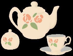 Tea set cream